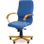 Кресло для руководителя NOVA wood LB chrome