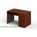 Стол 1,2 х 0,7 х 0,74Н с тумбой на 1 ящик и дверцей