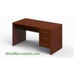 Стол 1,4 х 0,7 х 0,74Н с подвесной тумбой на 3 ящика