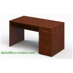 Стол 1,4 х 0,7 х 0,74Н с тумбой на 1 ящик и дверцей