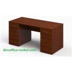 Стол 1,6 х 0,7 х 0,74Н с двумя тумбами на 1 ящик и дверцу