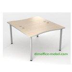 Столы прямые сдвоенные 1,2 х 1,4 х 0,755Н на общем металлокаркасе