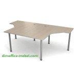 Столы угловые сдвоенные на общем металлокаркасе